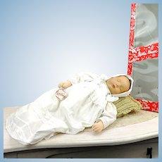 """Kathe Kruse Sandbaby, 20"""" heavy 2,7 kilo midwife training baby doll, 1984 made"""