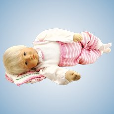 Kathe Kruse baby doll Du Mein life size, 1994, original clothes, mint