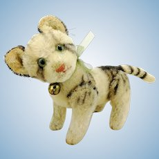 "Steiff cat Kitty 7"", vintage 1949 to 64, fully jointed with glass eyes"
