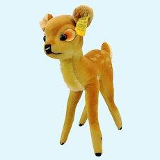 "Steiff Bambi with IDs, vintage 1959 to 1964, large 9"" velvet deer"