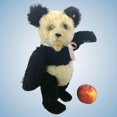 """Steiff Panda Teddy Bear with button, 14"""", vintage 1951 to 61 only"""