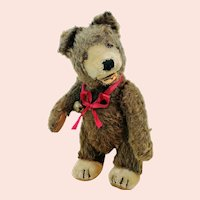 """Steiff Teddy Baby Bear, vintage 1949 to 1957, brown mohair, 9"""", free standing"""