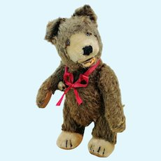 "Steiff Teddy Baby Bear, vintage 1949 to 1957, brown mohair, 9"", free standing"