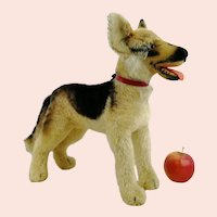 "Steiff largest edition 14"" German Shepherd dog Arco, produced 1957 - 61 only"
