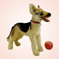 """Steiff largest edition 14"""" German Shepherd dog Arco, produced 1957 - 61 only"""