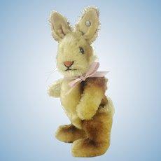 "Steiff rabbit Niki with button, jointed, smallest 5"", vintage 1952 to 64"