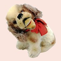 """Steiff Cockie Cocker Spaniel with IDs, small sitting 4"""" dog, 1951 to 59 only"""