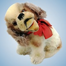 "Steiff Cockie Cocker Spaniel with IDs, small sitting 4"" dog, 1951 to 59 only"