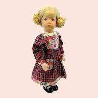 "Kathe Kruse doll girl, vintage 1955 to 1977, 14"", Little German Child"