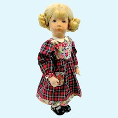 "Kathe Kruse doll girl, vintage 1955 to 1977, 14"", Little German Child"