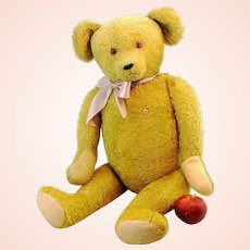"""Large German Petz teddy bear with ID, made by Kiesewetter, late 1940s, 28"""""""