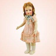 "Raynal doll, 17"" French Lenci type, 1930s made, felt head, cloth body, all original clothes"