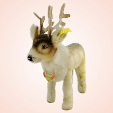 """Steiff reindeer, all IDs, vintage 1956 to 58 first edition, 7"""" tall"""