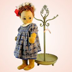 1920s Chad Valley Bambina with IDs, antique cloth doll, 18 inches