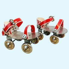 Roller skates for dolls, perfect for Sasha, 2 1-4 inches, vintage 1970's
