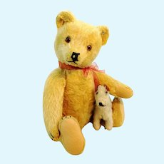 "Steiff Original Teddy Bear with ID, 1950 to 1964 vintage, 11"", blond"