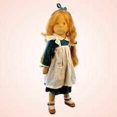 "Sylvia Natterer artist doll, 1989 made by Gotz, German vintage 18"" vinyl redhead"