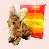 Steiff rabbit Ossi, mint in box, vintage made 1962 to 1964, 7""