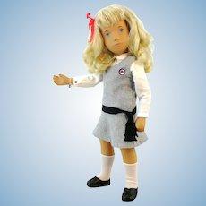 Sasha schoolgirl doll with ID, all original clothes, vintage 1970's Trendon Ltd.