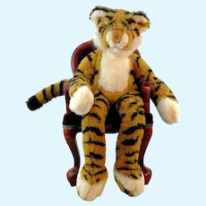 Steiff dangling tiger Lulac with IDs, vintage 1982 to 85 only, 22""