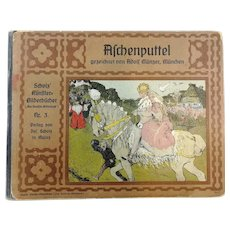 Antique 1900 Cinderella childrens fairy tale book with beautiful Art Nouveau illustrations