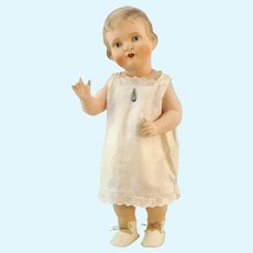 Antique German celluloid doll 1900 to 1919 by Bruno Schmidt, 15""
