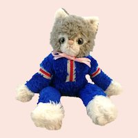 "Steiff dangling Tom cat with button 13"" 1972 to 77"