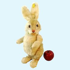 """Steiff rabbit Niki with IDs, jointed, large 16"""", vintage 1951 to 1964"""