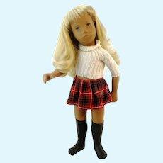 Sasha doll girl puddle eye in original clothes vintage 1970's white blonde
