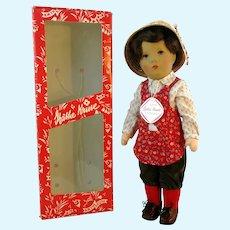 Kathe Kruse Doll Boy MIB, vintage 1985, 14 inches