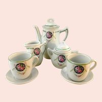 Art Nouveau China tea set or coffee set for dolls and bears