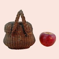Vintage wicker basket for your large doll 6 by 5 inches