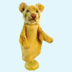 Steiff young lion hand puppet with IDs, vintage 1954 to 61 produced only