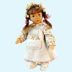 "Kathe Kruse girl doll Thumbelina 10"", 1970's vintage"