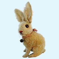 Steiff rabbit sitting white mohair 7 inches, 1927 to 1930, swivel head