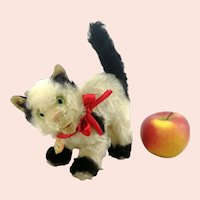 """Steiff cat Gussy with ID large 7"""" vintage 1952 to 1962"""