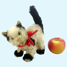 "Steiff cat Gussy with ID large 7"" vintage 1952 to 1962"