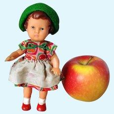 "ARI dollhouse doll girl 6"" all original clothes 1960's vintage vinyl"