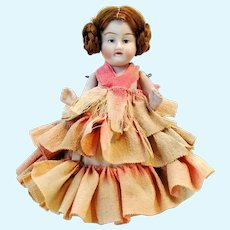 """Antique bisque doll around 1900 made in Germany 4 1-2"""""""