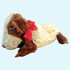 """Merrythought nightdress case dog basset 22"""", 1968 English vintage pyjama dog"""