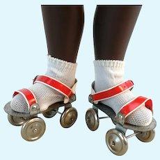 "Roller skates for dolls perfect for Sasha 2 1-4"" vintage 1970s"