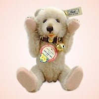 """Steiff teddy baby Rose only 1990 ltd. edition 7 ½"""" with IDs"""
