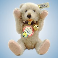 "Steiff teddy baby Rose only 1990 ltd. edition 7 ½"" with IDs"
