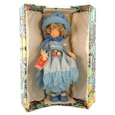 "Lenci doll vintage 1983 large 21"" Italian felt doll mint in box"