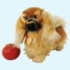 "Steiff Pekinese all IDs vintage 1968 to 76 produced largest 9"" standing mohair dog"