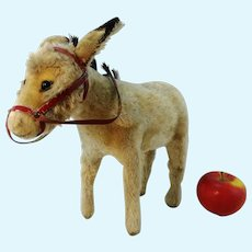 "Steiff donkey with button, vintage 1950 to 1961 only, largest 11"" edition"