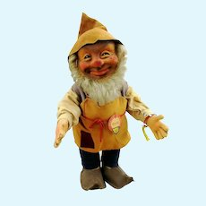 Steiff dwarf gnome doll Gucki all IDs, first edition 1953 to 58, large 12""
