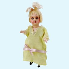 "AM dollhouse Mignonette, blonde 5 1-2"" porcelain head with sleep eyes"