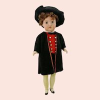 "Gebruder Kuhnlenz 1900 bisque head doll gentleman 10"" original costume"