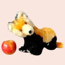 "Steiff Red Indian Panda with button largest 12"", 1963 only, swivel head"